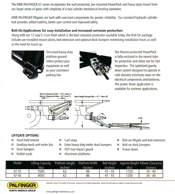 Interlift Lift Gate Dealer Long Island, New York | Hydraulic