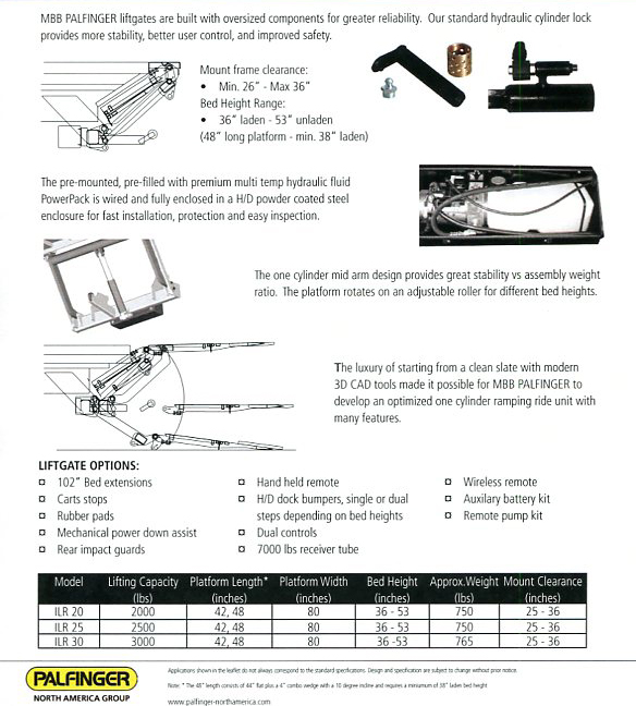 Hydraulic Lift Gate Parts : Mbb palfinger liftgates